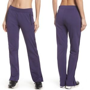 Zella Purple Snap to Track Tear Away Fleece Pants